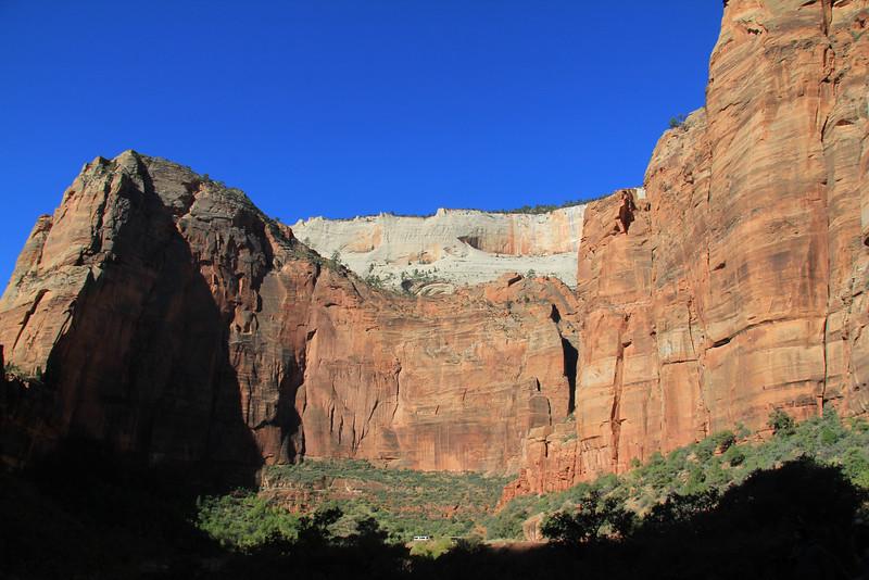 Zion National Park - biking down Zion Canyon Scenic Drive